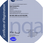 EESeal Manufacturing is ISO 9001 & AS9100 Certified