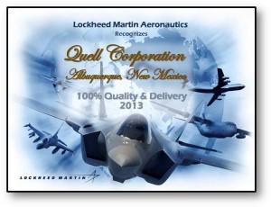 Lockheed Martin Award for Quell Corporation